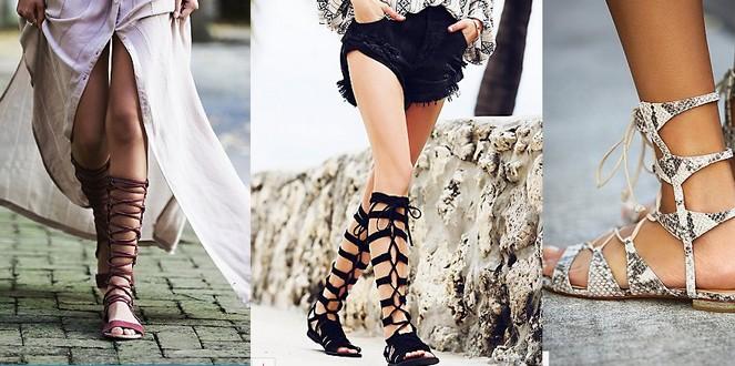 Sandales lacets - la maison borrelly